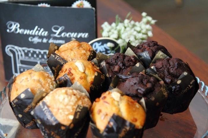 Muffins de chocolate y arándanos