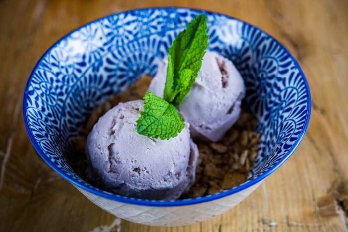 helado de violeta